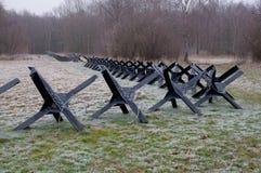Анти- nfantry барьер. стоковое изображение