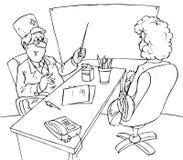 антнатальная клиника Иллюстрация вектора