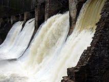 антропогенный водопад satka реки Стоковые Фото