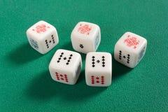 Аншлаг на кости покера Стоковые Фотографии RF