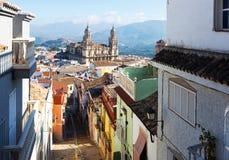 Андалузский город с собором ренессанса Jaen Стоковое Изображение
