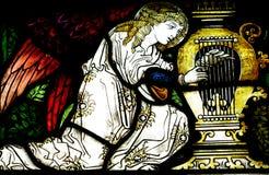 Анджел делая музыку (цветное стекло) Стоковое Изображение