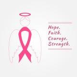 Анджел и лента Предпосылка осведомленности рака молочной железы Стоковое Изображение RF
