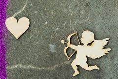 Анджел и сердце Стоковое фото RF