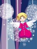 Анджел на рождественской елке Стоковая Фотография