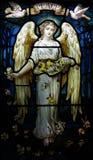 Анджел с голубями и миром Стоковые Изображения
