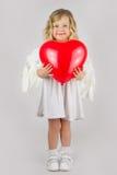 Анджел с красным сердцем Стоковое Изображение RF
