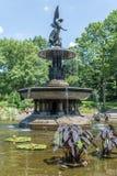 Анджел фонтана вод на террасе Bethesda Стоковая Фотография RF