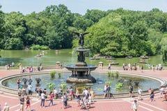 Анджел фонтана вод на террасе Bethesda Стоковая Фотография