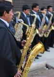 Андийский саксофонист Стоковая Фотография