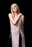 Андрогинный представлять женщины девушки фотомодели Стоковая Фотография