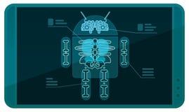 Андроид на рентгеновском снимке Стоковые Изображения