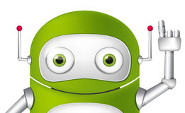 Андроид персонажа из мультфильма Стоковые Изображения