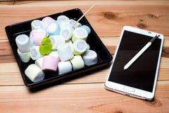Андроид m телефона (6 0) зефир Стоковое Изображение RF