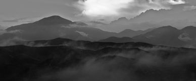 ландшафт гористый Стоковая Фотография RF
