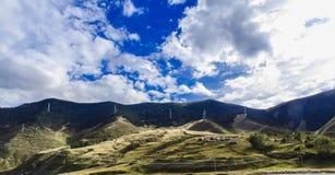 ландшафт горы в тибетце Стоковое Изображение RF