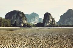 ландшафт горы пляжа, панорама, перспектива, сцена Стоковая Фотография RF