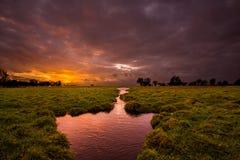 ландшафт Голландии Стоковое фото RF