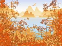 ландшафт замока Стоковая Фотография