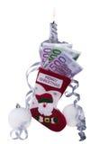 ландшафт подарков вечера рождества предпосылки socks зима Стоковые Фото