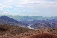 ландшафт пустыни высокий Стоковые Изображения RF