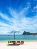 ландшафт пляжа тропический Стоковые Фото