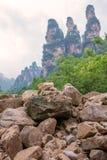 ландшафт 3 сестер трясет гору в галерее 10 миль, Hu Стоковое Изображение