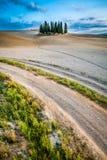 ландшафт Тоскана осени Стоковое Изображение