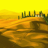 ландшафт Тоскана Стоковая Фотография RF