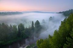 ландшафт тумана моста одеяла туманный Стоковая Фотография RF