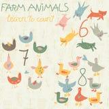 ландшафт фермы животных лето много sheeeps Стоковое Фото