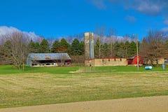 ландшафт фермы сельский Стоковые Фото