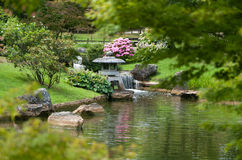 ландшафт японца сада Стоковые Изображения RF