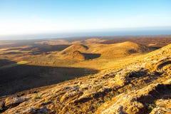 ландшафт lanzarote острова вулканический Стоковое Изображение RF