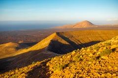 ландшафт lanzarote острова вулканический Стоковое фото RF