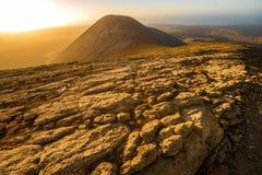 ландшафт lanzarote острова вулканический Стоковое Фото