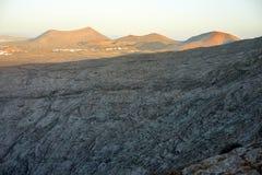ландшафт lanzarote острова вулканический Стоковые Фотографии RF