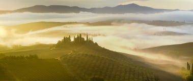 ландшафт tuscan Красивое тосканское утро Стоковая Фотография RF