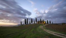 ландшафт tuscan Красивое тосканское утро Стоковые Изображения RF