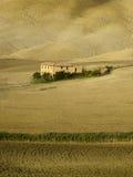 ландшафт tuscan Красивое тосканское утро Стоковые Изображения