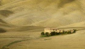 ландшафт tuscan Красивое тосканское утро Стоковые Фотографии RF