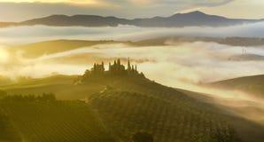 ландшафт tuscan Красивое тосканское утро Стоковая Фотография