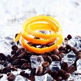 апельсиновая корка льда coffe фасолей Стоковые Фото