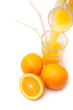 Апельсиновый сок от кувшина Стоковое Изображение RF