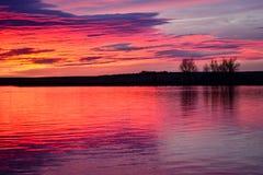 Апельсины и фиолеты крася утро стоковая фотография