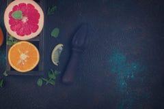 Апельсин, лимон и грейпфрут Стоковые Фотографии RF