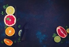 Апельсин, лимон и грейпфрут Стоковое фото RF
