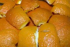 Апельсин - макрос Стоковое Изображение