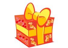 Апельсин подарка на рождество Стоковые Фото