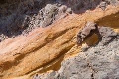 Апельсин-серая предпосылка вулканической породы Стоковая Фотография RF